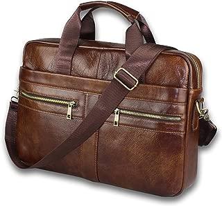 男式真皮邮差包 - 衬垫 14 英寸笔记本电脑包8541556074 大
