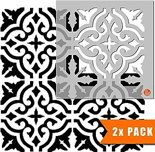 Seville 西班牙瓷砖模板用于墙壁和地板 | 可定制尺寸 30 cm (6 tile repeat)