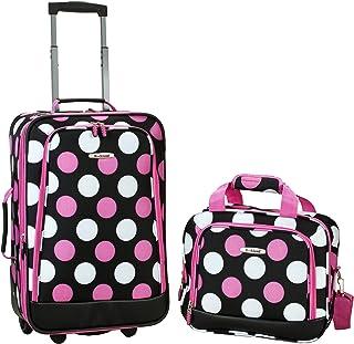 Rockland 行李两件套 深粉色圆点 均码