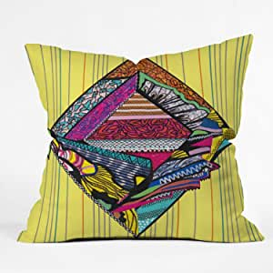 DENY Designs Mikaela Rydin Romb Throw Pillow, 18-Inch by 18-Inch