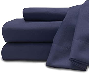 Baltic Linen Company 0361108400 Soft And Cozy Easy Care Deluxe Microfiber Sheet Sets, King, Navy