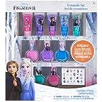 TownleyGirl Disney Princesses、Belle、Ariel、Cinderella和Jasmine、超閃亮化妝品套裝帶唇彩、*油和*貼紙,11 CT 冰雪奇緣