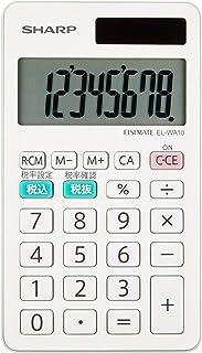 夏普 记事本式计算器 白色系 EL-WA10X