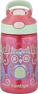 Contigo 康迪克 AUTOSPOUT Gizmo 带吸管弹盖儿童水瓶,14盎司/约414毫升,Sprinkles with Owl Parliament猫头鹰图案(2004943)