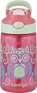 Contigo 康迪克autospout 吸管 gizmo 翻轉兒童水瓶 Sprinkles with Owl Parliament 14 盎司(約414毫升)