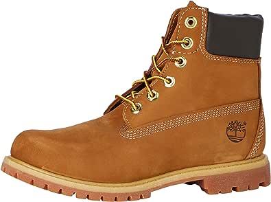 Timberland 女士 6英寸 优质防水短靴 Brown (Rust Nubuck) 3.5 UK