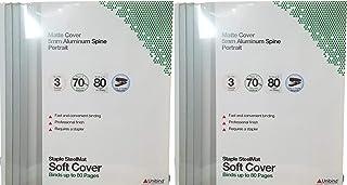 Unibind Staple SteelMat 软封面,5 毫米,哑光封面/铝制书脊,数量:6 个软封面(可容纳 80 页/40 页)