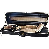 Sky PTVNCW01 高级 4/4 全尺寸 Oblong 小提琴盒,实木仿皮革,黑色/卡其色