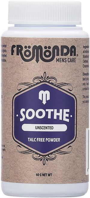Fromonda Soothe 无香型无滑石膏 - 男女均适用*干*剂 - 不含香料运动除尘粉 - 1.4 盎司试用装