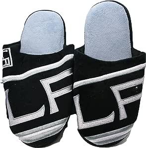 NHL Los Angeles Kings 男士队徽拖鞋黑色(L 码 11-12)