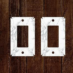 Decora Light Switch 乙烯基贴花贴纸 - 1 连杆单插座灯开关壁板罩 - 防水室内户外家庭公寓卧室客厅办公室墙壁板装饰 大理石 P-DECORADECALCOVERS
