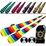 FUNKY 袜子套装(5 种设计)Pro Poi 纺车袜 AKA Tube Poi + 2 个球和旅行包。