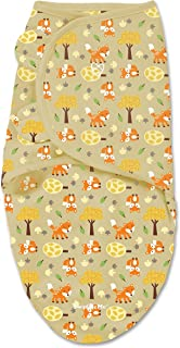 Swaddleme Swaddling Blanket Comfortable and Secure - Size Small Infants 7-14 Pounds Fox Friends 小号