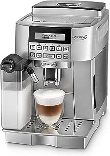 De'Longhi 德龍 Magnifica S 卡布奇諾 ECAM 22.366.S 全自動咖啡機(數字顯示屏,集成牛奶系統,一鍵式制備卡布奇諾,可拆卸沖泡組,兩杯功能),銀色