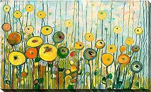 "Picture Perfect International Jennifer Lommers 创作的""Martini Poppies 艺术微喷拉伸帆布墙艺术画 18"" x 30"" x 1"" 704-0268_1830"