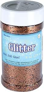 Sulyn 8 oz. Glitter Jar - Copper/Orange Metallic