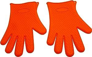 Helpa Chef - Silicone Thick Oven Gloves (Orange)