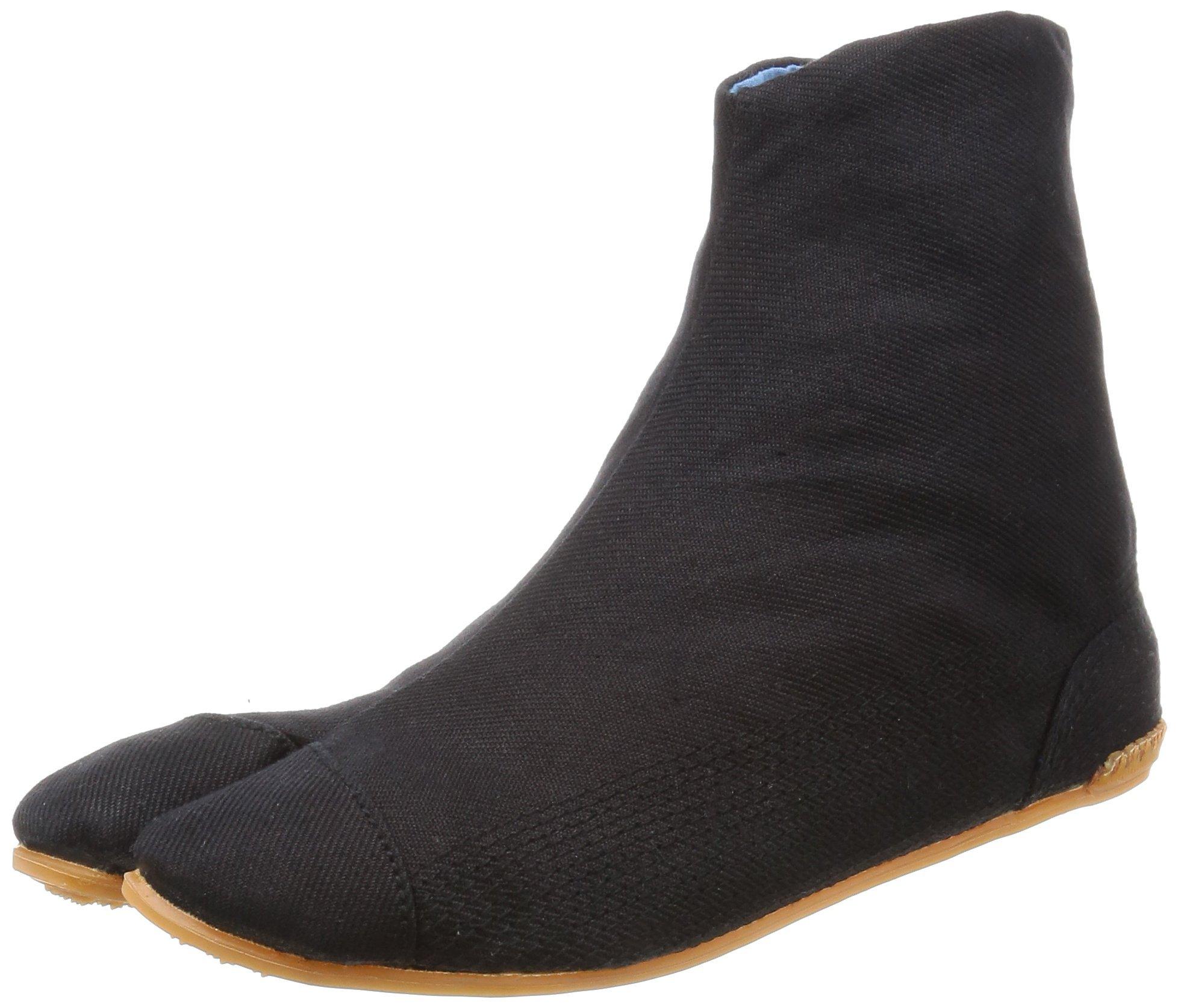 力王 Air Tabi Fit 祭日用男式日式短布袜 5 只装 黑色 28.0 cm