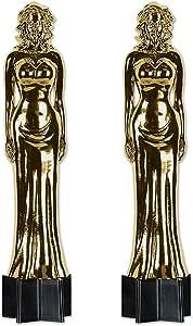 Beistle Jointed Awards夜女雕像镂空,5.6英尺,金色/黑色 金色/黑色 S54283AZ2