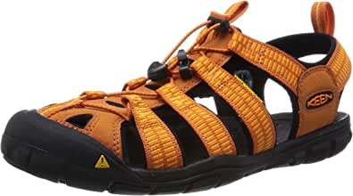 KEEN Men's Clearwater CNX Hybrid Shoe, Sunset/Marigold, 8 M US