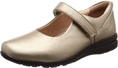 [扰流] 防水 真皮 轻量 减震 外翻母趾支撑 浅口鞋 SP0030 女士 香槟 23.0 cm 3E