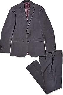 Perry Ellis 男士 2 件套西装 Medium Grey Plaid 36 Short