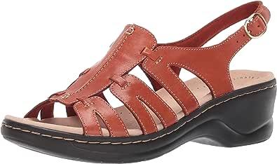 Clarks 其乐 Lexi Marigold Q 女士凉鞋 锈皮革 6 X-Wide