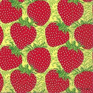 Boston International 餐巾纸 Strawberry Craze 6.5 x 6.5-Inches L026600