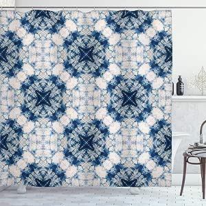 ambesonne 装饰系列涤纶面料浴室浴帘122cm x 183