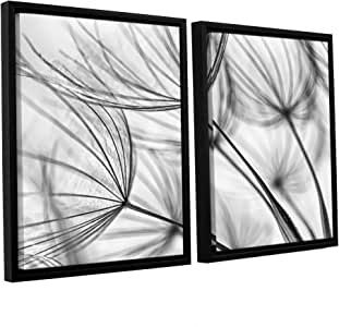 ArtWall Cora Niele's Parachute Seed I 2 Piece Floater Framed Canvas Set, 32 by 48""