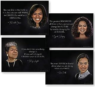 黑人历史月装饰(强大的女性领导非洲美国艺术)13x18非洲美国墙壁艺术(非层压)