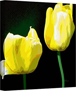 ArtWall Herb Dickinson 'Yellow Tulips' Gallery-Wrapped Canvas Artwork, 24 by 24-Inch