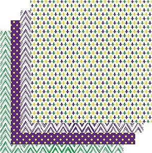 """乙烯基薄膜狂欢节,狂欢节印花乙烯基,紫色*和金色,10.16 厘米 x 30.48 厘米 床单套装 Bundle 3 12""""x12"""" FBAMGBA3-FBAMGBA4"""