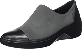 ECCO 女士 Soft 7 坡跟 Gore-tex 一脚蹬乐福鞋