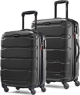 Samsonite 新秀丽 Omni 可扩展硬壳行李箱套装,带万向轮,2 件(20/24),黑色