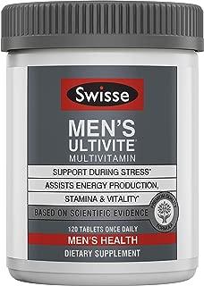 Swisse Premium Ultivite 男性每日复合维生素| 富含抗氧化剂和矿物质| 维生素A,维生素C,维生素D,生物素,钙,锌等| 120片