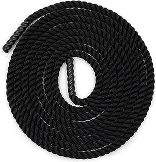 Champion Sports 重型训练绳:犀牛涤纶强度和调节重型健身战绳 - 心脏、交叉训练、举重训练和交叉健身