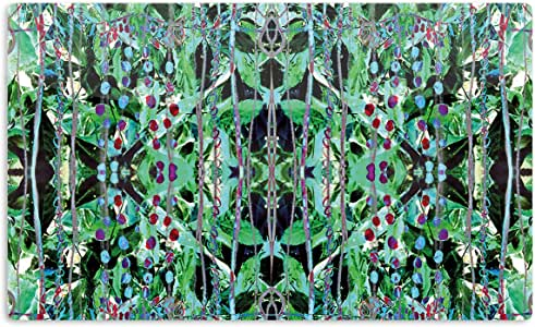 "KESS InHouse Danii Pollehn""Grun""绿色抽象艺术铝磁铁,5.08 厘米 x 7.62 厘米,多色"
