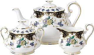 皇家阿尔伯特的3件100YEARS 1910茶壶 sugar & 奶油瓶套装多色