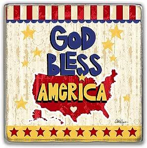 "大教堂艺术 LLS 美国遮阳帽夹 God Bless America 2-1/4"" LLS101"
