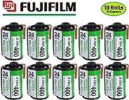 Fujifilm Fujicolor Superia X-TRA 400 35mm 胶片 24 曝光(制造商已停产) 10 Rolls