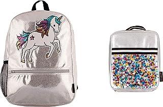 返校背包和午餐盒手提包套装 Unicorn Silver One_Size