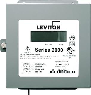 Leviton 2N208-11 子仪表系列 2000 三元素仪 100:0.1A 比率 *大 100A 室内表面安装箱