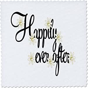 """3dRose qs_60766_2 Happily Ever After Quilt Square, 6 by 6"""""""