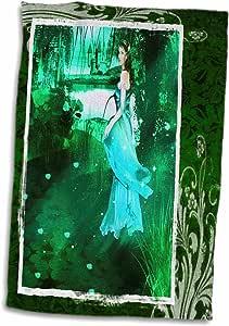 3D 玫瑰苏珊布朗设计的一般主题–凯尔特公主 IN THE Woods–毛巾