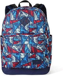 Zpoint C1 可逆基础旅行背包,书包,一个用作两个背包,防水和耐磨 Crystal Puzzle/Royal Blue