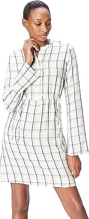 Find 女式窗格格子衬衫连衣裙