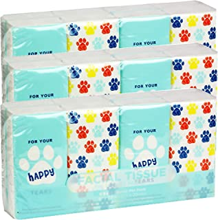 Pocket Sized 旅行面部纸巾,24包,216张,狗爪