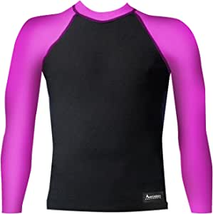Aeroskin Raglan 长袖衬衫,色彩点缀和绒领