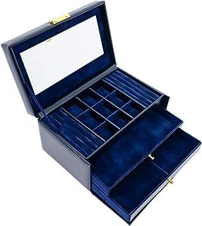 首饰盒 | 真皮首饰收纳盒 | *蓝女士配饰储物钥匙盒 - 耐久